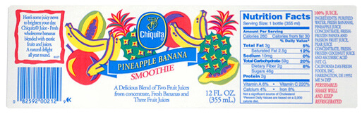 Custom Smoothie Label by Apogee Industries
