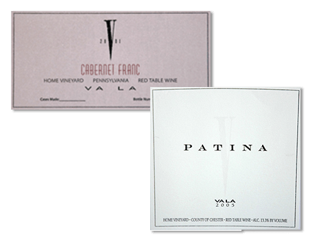 Examples of wine labels by Apogee Industries