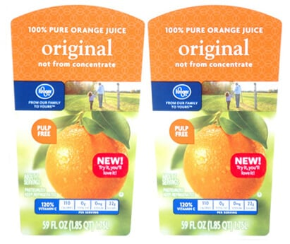 Custom Orange Juice Label by Apogee Industries