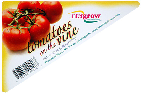 Tomatoes label, created by Apogee